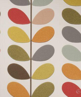 Tapeta Harlequin Orla Kiely 110384 biała kolorowe liście