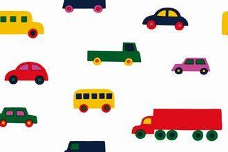 Tapeta Sirpi Marimekko Essential 13025 kolorowe auta