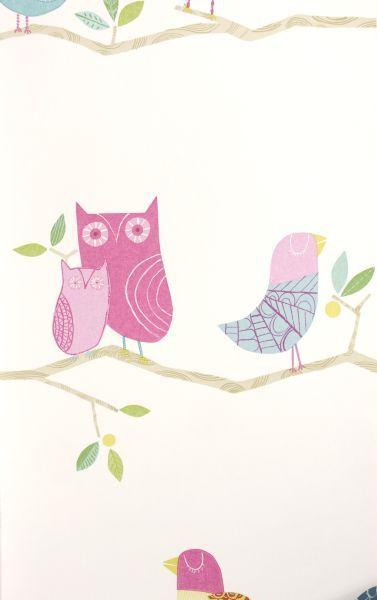 Tapeta Harlequin What a Hoot! 70515 w różowe ptaki