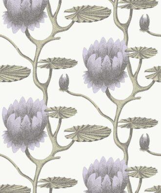 Tapeta Cole & Son Contemporary Restyled Water Lily 95/4023 w duże fioletowe kwiaty