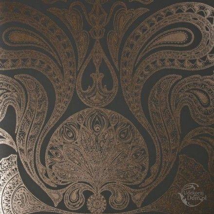 Tapeta Cole & Son Contemporary Restyled 95/7044 Malabar brązowa paisley