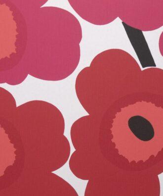 Tapeta Sirpi Marimekko 13071 w duże czerwone kwiaty