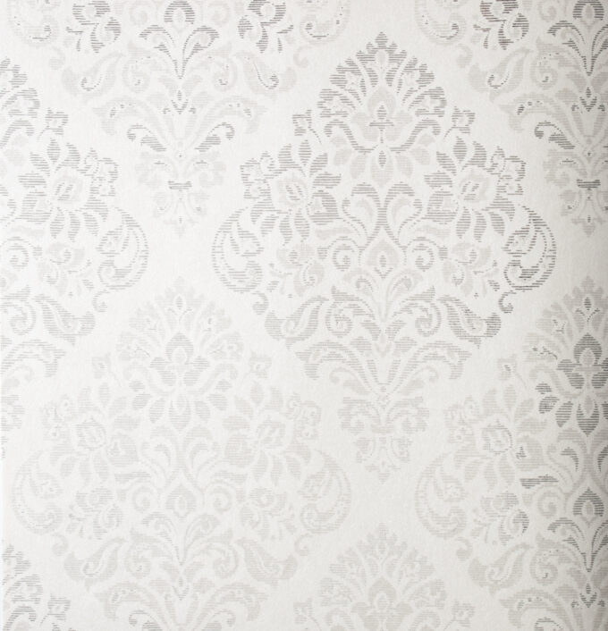 Tapeta Khroma Piano PIA301 biała ornament