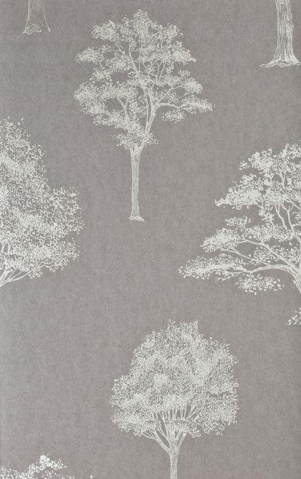 Tapeta Khroma Green GRE204 szara w drzewa