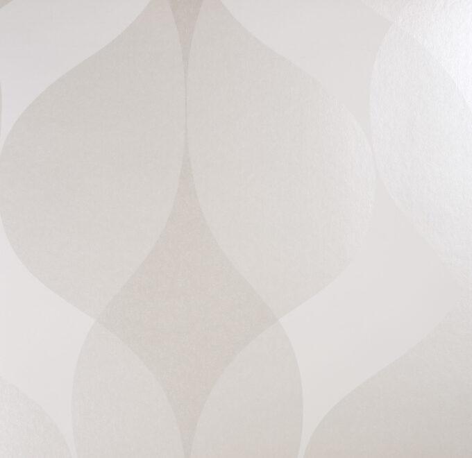 Tapeta Engblad & Co. Eco White 1037 biała w liście