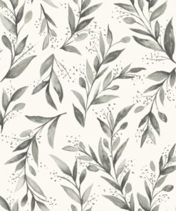 Tapeta York Wallcoverings Magnolia Home 2 ME1537 biała szare liście