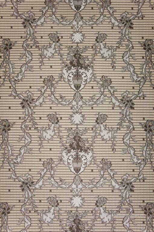 Tapeta Morton Young&Borland MYB Textiles WA67-01 koronka szara