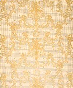 Tapeta Morton Young&Borland MYB Textiles WA67-04 beżowa koronka złota