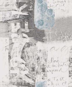 Tapeta Boras Tapeter Poetry 7101 szara w napisy